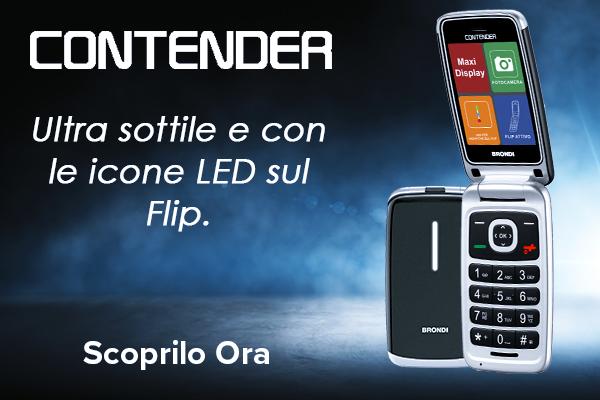 Il nuovo CONTENDER : Cellulare ultra sottile e con Icone LED sul Flip